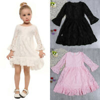 AU Toddler Infant Baby Girl Princess Party Pageant Lace Skirt Tutu Floral Dress