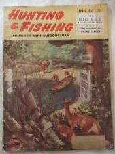 "Vintage Apr 1951 ""Hunting & Fishing"" Mag - Mercury Coleman Weaver Evinrude +More"