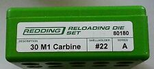 80180 REDDING 30 M1 CARBINE 3 DIE SET - BRAND NEW - FREE SHIPPING