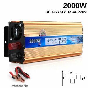 Converters Wave Solar Inverter Kit Voltage Transformer Vehicle Power 2000W Tools