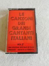 """""""Le canzoni dei grandi cantanti italiani vol. 2""""musicassetta Dash /Ecofina"""