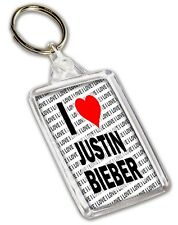 I Love Justin Bieber Keyring - Gift - Birthday - Christmas - Stocking Filler