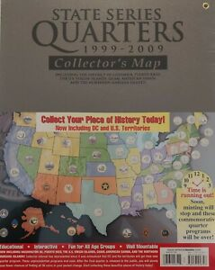 State Series Quarters 1999 - 2009 Large Coin Collector's Map Whitman Album NEW