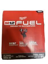 """Nueva Marca Milwaukee 2552-20 M12 12V combustible Stubby 1/4"""" Llave de impacto (solo Herramientas)"""