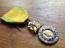 ORIGINAL WWI FRENCH MEDAILLE MILITAIRE1870 MILITARY MEDAL - 3rd REPUBLIC VERSION