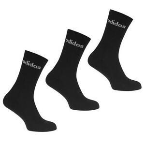 3 PAIRS ADIDAS SOCKS UK SIZE 14-17 CUSHIONED BLACK/WHITE CREW XL SOCKS BNWT