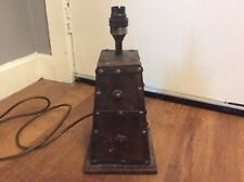 Vintage Wooden Arts And Crafts 100w Lamp Pyramid Style