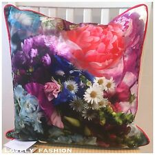 Ted Baker Focus bouquet floral coussin Brand New Soft BNWT Plume Rose