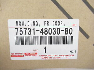 Genuine OEM Lexus 75731-48030-B0 Passenger Front Door Lower Moulding