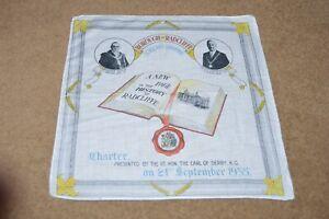 RADCLIFFE nr Bury Manchester 1935 CHARTER commemorative handkerchief