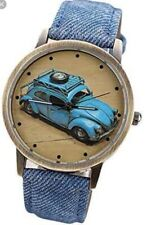 Blue Denim Volkswagen Watch Classic Car