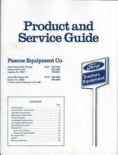 Equipment Brochure - Pascoe - Ford Gravely Tractors Meyers Sprayer et al (E5913)