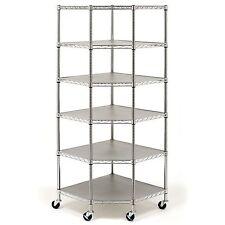 Heavy Duty Wire Steel 6-Tier Corner Storage/Shelving Rack NEW |NO SALES TAX|