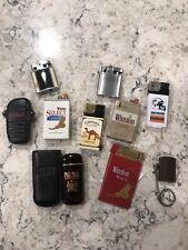 Vintage Cigarette Lighter Lot Winston,Camel Palm Mall, Miami Dolphins, Marlboro