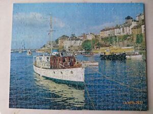 """Victory P8 Wooden Jigsaw Puzzle 600 Pieces """"Brixham Harbour"""" Complete"""