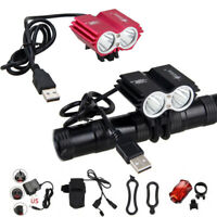 8000LM XML T6 LED Cycling Bike Lamp Bicycle Headlight + Battery Pack Rear Light
