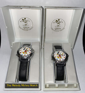 2 Mickey Mouse Disney Musical Watches - Vintage  - New - Unworn Watch