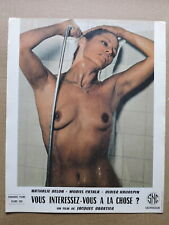Nathalie Delon showering busty French lobby card 1974 First Time with Feeling