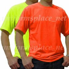 Men T Shirt Polyester Pocket short sleeve Tee shirt Hi-Vis Safety Orange Yellow