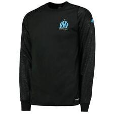 Camisetas de fútbol de manga larga en negro