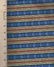 Dan Morris Design Quilting Treasures Blue   1/2 yard cut of 100% Cotton Fabric