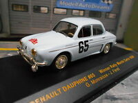 RENAULT Dauphine Rallye Monte Carlo 1958 #65 Monraisse Foret IXO 1:43