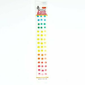 Necco Old Fashioned Wrapped Candy Buttons Strip Retro Nostalgic - .5 oz