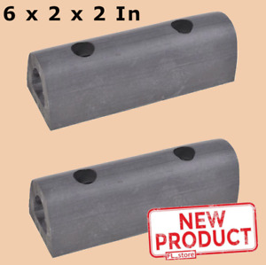 1 Pair Rubber Loading Dock Bumpers 6 Inch Long Truck Trailer Body Wall Warehouse