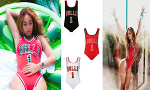New Celebrity Inspired Beyonce Sleeveless Bulls 1 Bodysuit / Leotard