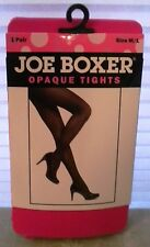 NEW JOE BOXER Designer Opaque Pink Tights Size M/L Free Shipping