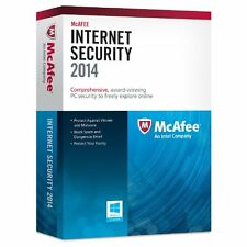McAFEE Internet Security 2014 3PC / 1 Year Updates to 2017