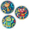 "8 x Party Robots 7"" Paper Plates Boys Birthday Tableware Supplies Childrens Blue"