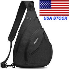 Mens Large Capacity Shoulder Bag Sling Chest Pack Crossbody Handbag Sports