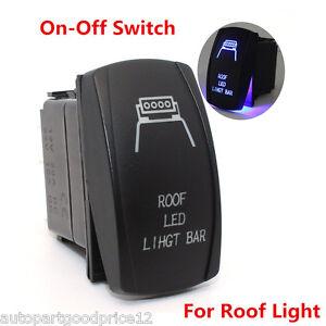 Autos SUV 4x4 Offroad Roof Lights LED Backlit Laser Rocker Switch On-Off 12V 20A