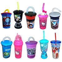 Disney & Kids TV Character School Lunch Sports Drinks Water Straw Bottle New