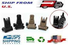 Rifles Low Profile Flip-up Metal Sight Folding Sights Front and Rear