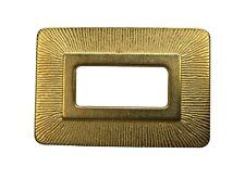 Italian Gold Metal Belt Buckle - For 40mm Leather Belts, Straps, Craft, etc