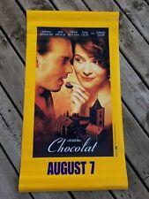 CHOCOLAT ORIGINAL DOUBLE SIDED HANGING MOVIE POSTER  BINOCHE & DEPP