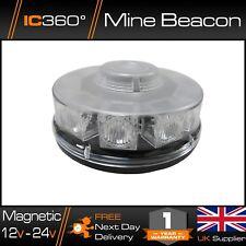 LED Flashing Beacon Magnetic 12v 24v Lightbar Low Profile Vehicle Light