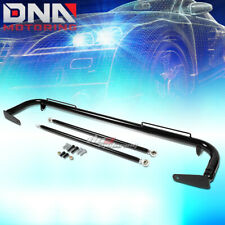 "49"" STAINLESS RACING PROTECTION SAFETY SEAT BELT CHASSIS HARNESS BAR ROD BLACK"