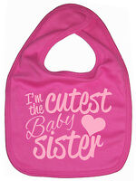 "Little Sister Bib ""I'm the Cutest Baby Sister"" Newborn Gift"