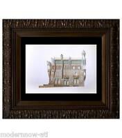 "Antoni GAUDI lithograph LIMITED Ed. Watercolor ""Casa Vicens..."" +Custom FRAMED"