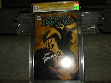 AMAZING SPIDER-MAN #573 MARVEL ZOMBIES CGC SS 9.8 4X FATHER AND SON JOHN ROMITA