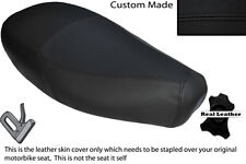 BLACK STITCH CUSTOM FITS PIAGGIO VESPA ET2 ET4 125 DUAL LEATHER SEAT COVER