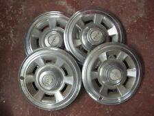 """Original 1960's GM PMD Pontiac Motor Division Set 4 - 14.5"""" Wheel Cover/Caps"""