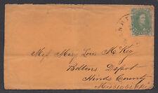 **CSA Cover, SC# 1 Warrington, FL Tied by CDS 1/25/1862