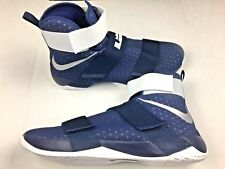 new products 43a8a 9172f NEW NIKE LEBRON James SOLDIER X 10 SFG Blue MEN S BASKETBALL SHOES Size 17.5