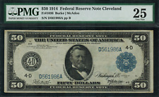 1914 $50 Federal Reserve Note - Cleveland FR-1036 - Graded PMG 25 - Very Fine