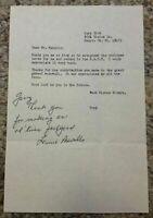 Lennie Merullo Signed Letter Baseball Chicago Cubs Autographed Letter