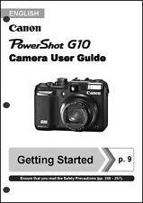 Canon Powershot G10  Digital Camera User Guide Instruction  Manual